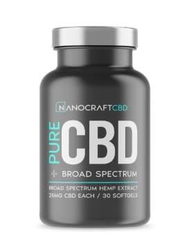Nanocraft CBD Softgel Capsules 25 mg - Broad Spectrum