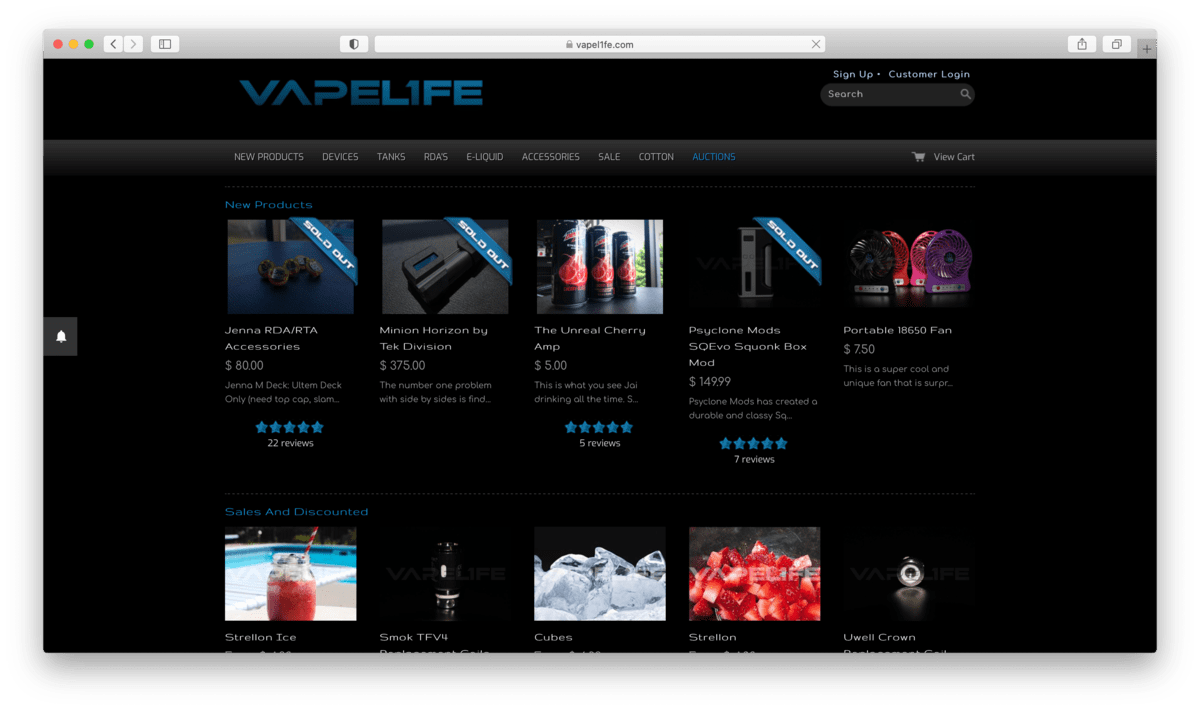 VapeL1FE Review: The Site For the Most Authentic Vape Gear