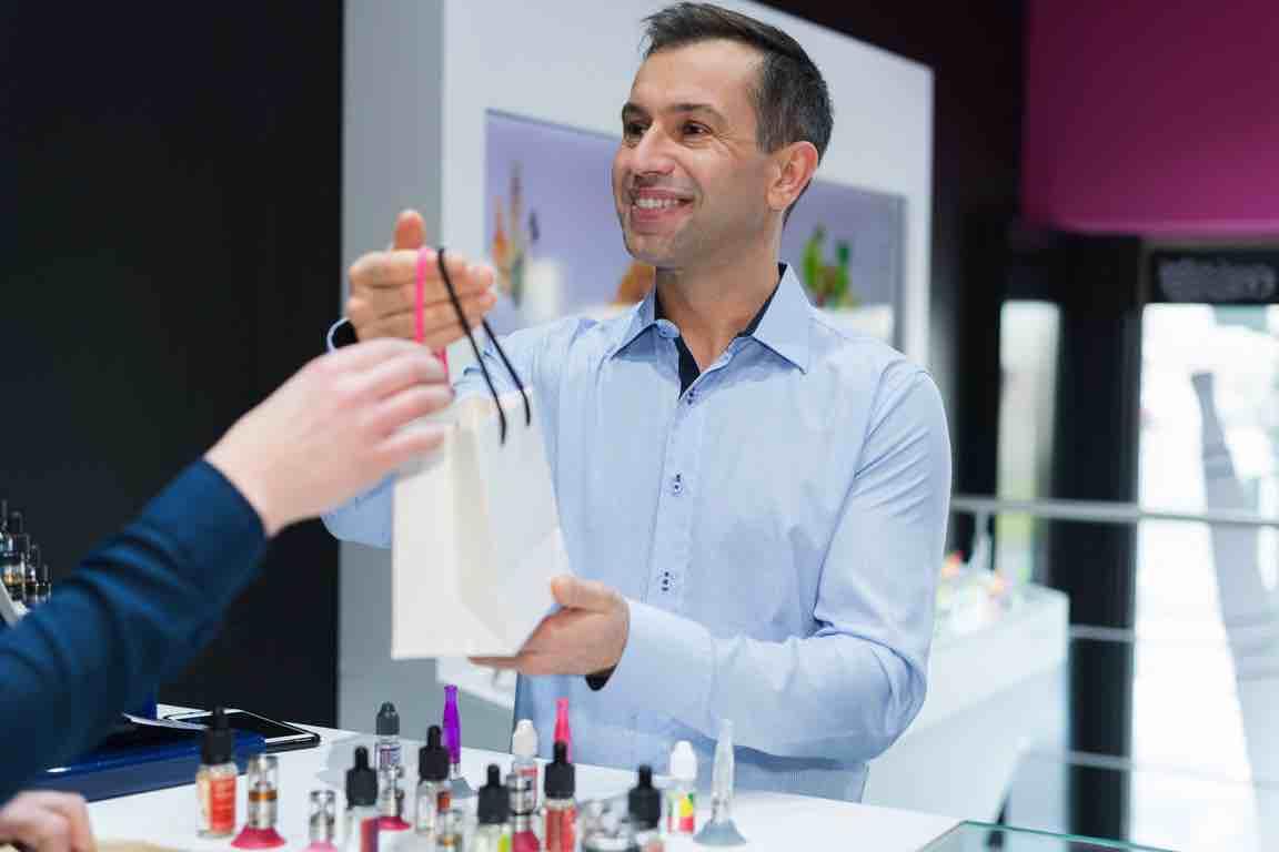 merchandiser of e-cigarettes